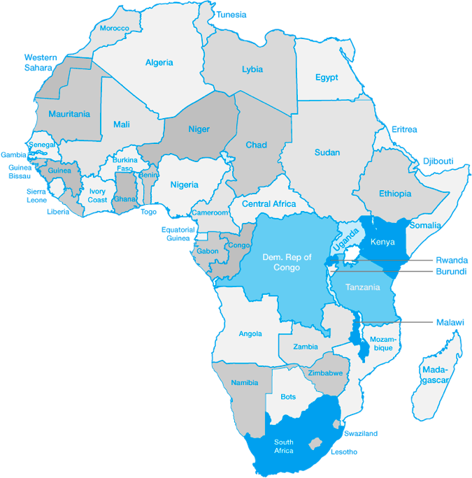 Working area (map of Africa)